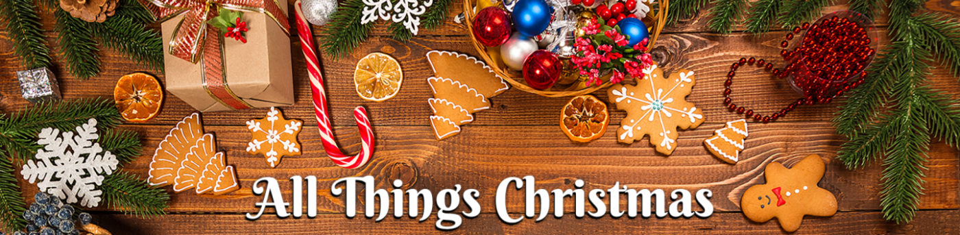 The header of the All Things Festive blog