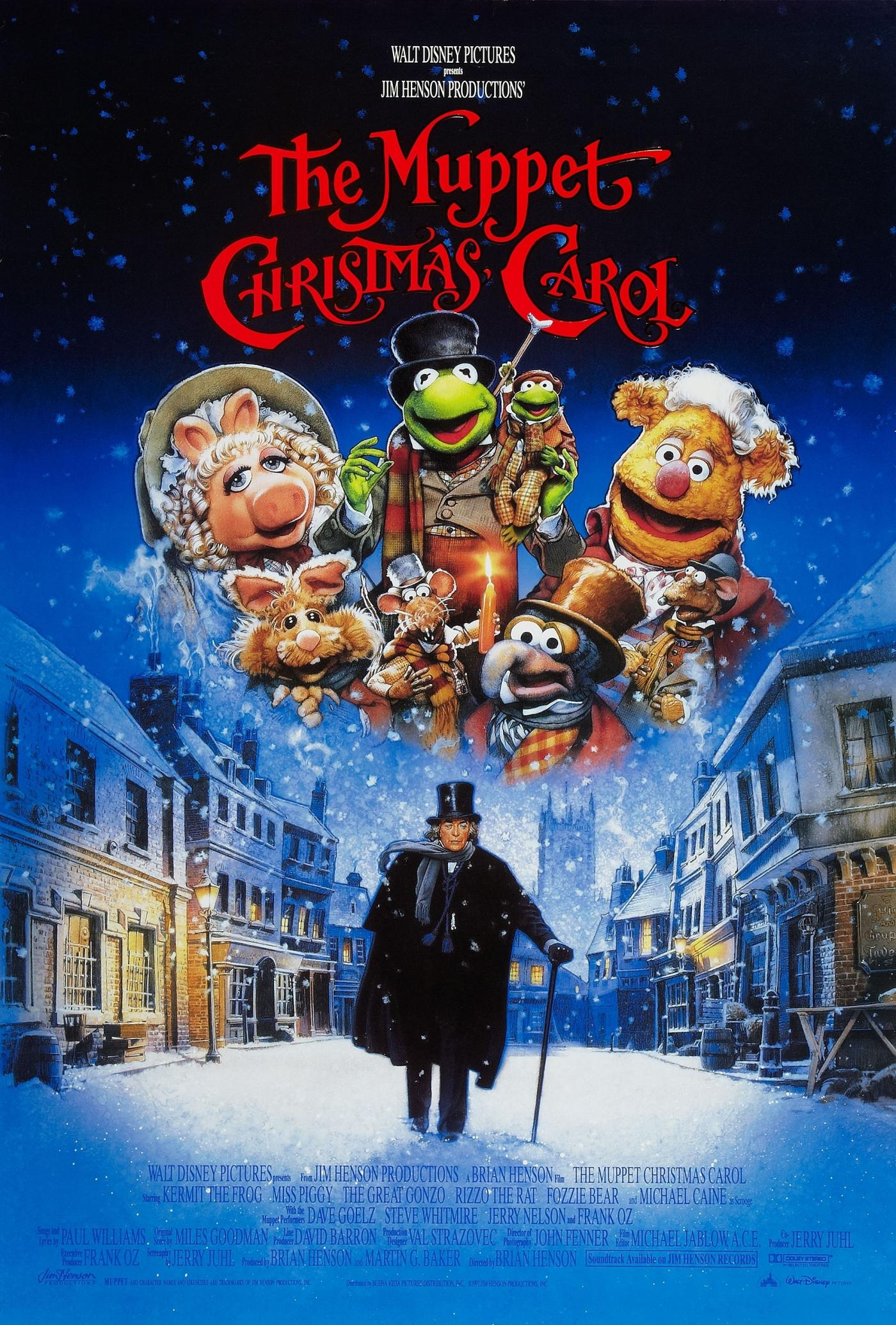 The film poster for the Muppets Christmas Carol
