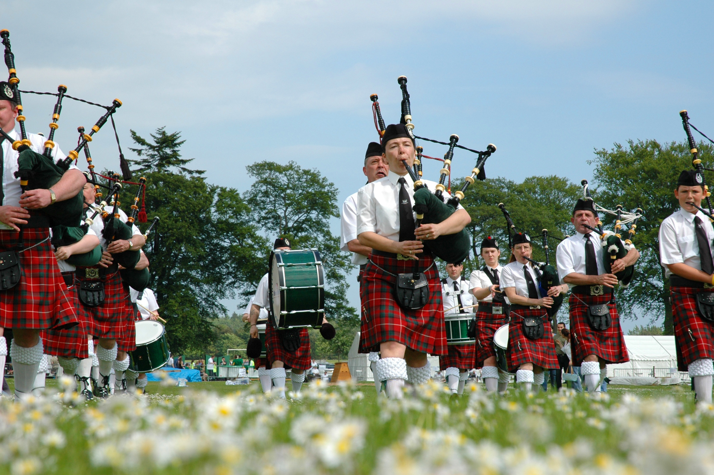 bagpipes at a highland games event