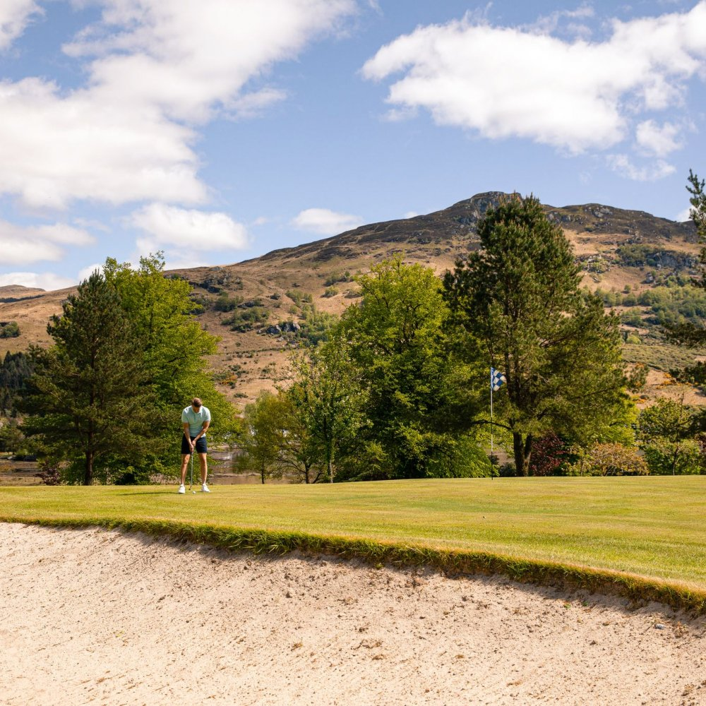 Golfing at Drimsynie Estate Lochgoilhead