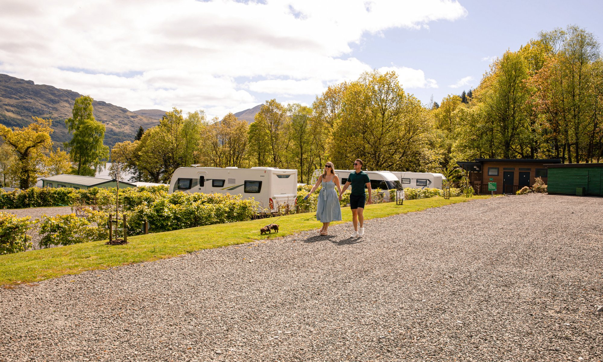 Touring Pitches at Loch Lomond Holiday Park Scotland
