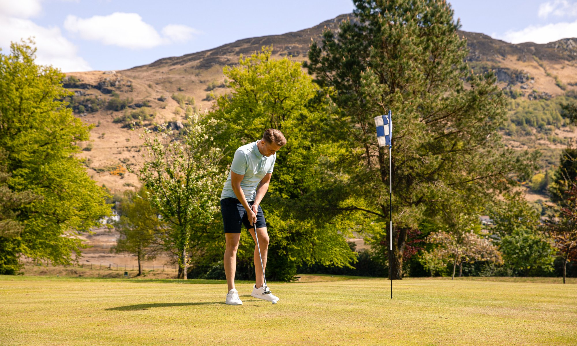 Try out our scenic 9-hole golf course