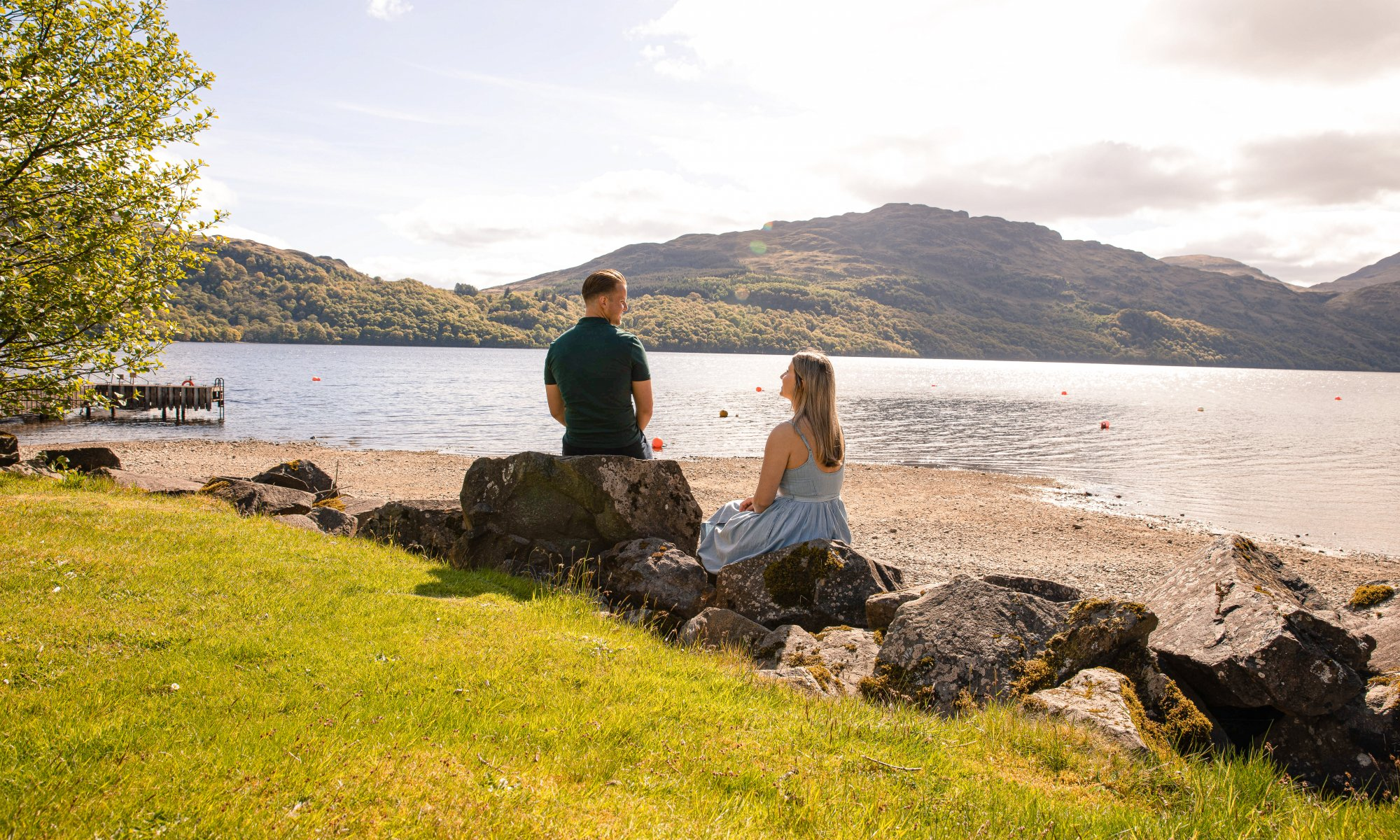 Admire the incredible loch views