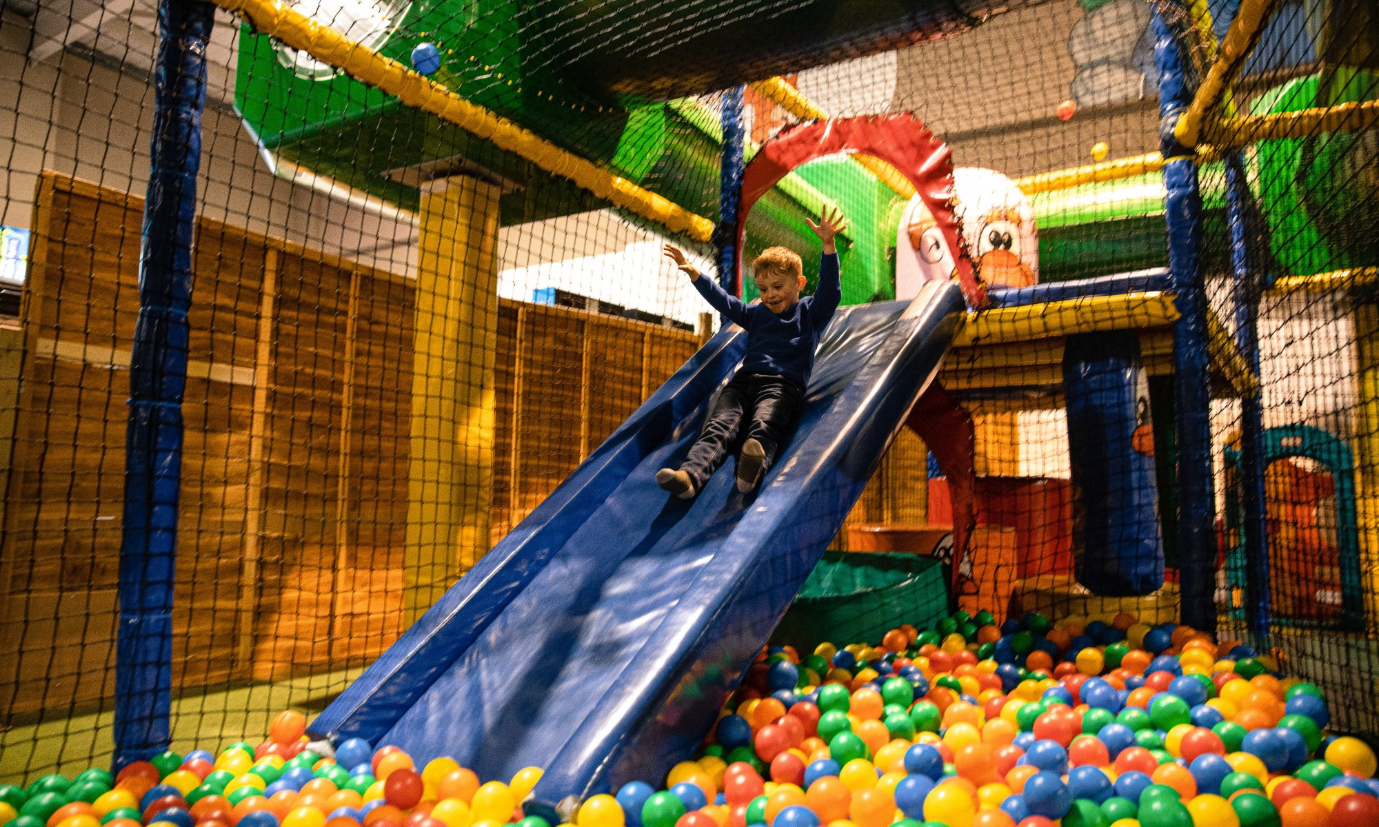 Make the most of our indoor soft play