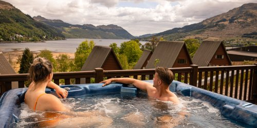 Luxury hot tub lodges Scotland
