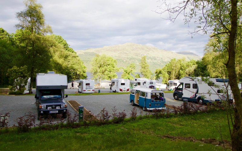 Touring Pitches at Loch Lomond Holiday Park