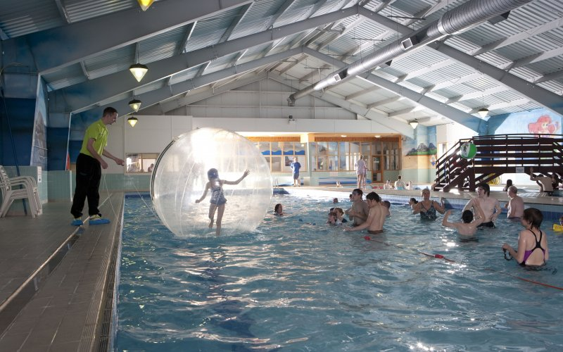 Hunters Quay Holiday Village is on the water, but also has some great watery indoor activities for the whole family