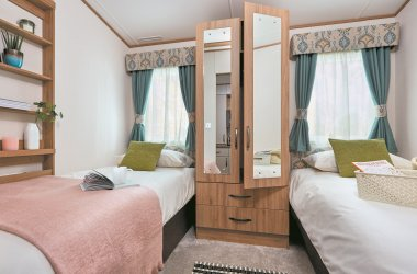 Accessible Caravan - Twin Bedroom