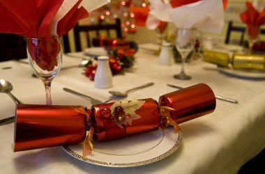 A Christmas cracker at Christmas dinner